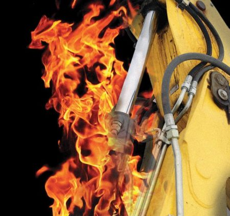 hydraulics oil fire resistant
